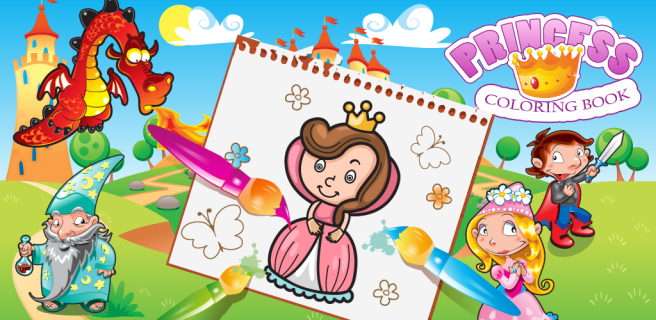 Princess Coloring Book Android app for girls